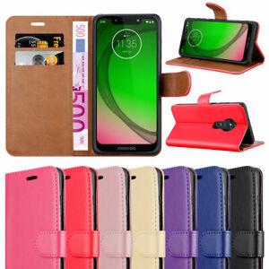 For Motorola Moto E6 Plus Case Leather Flip Wallet Book Phone Cover For E6 Plus Ebay