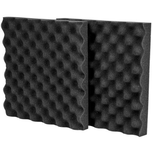"""1-1//2/"""" x 12/"""" x 12/"""" Prop 65 Com Acoustic Eggcrate Foam 2 Pcs"""