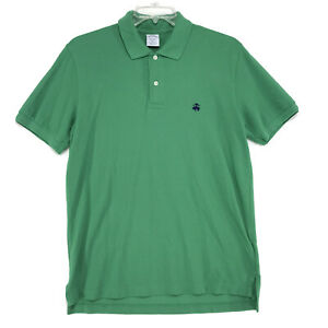 Brooks-Brothers-Slim-Fit-Polo-Shirt-Mens-Size-L-Large-Green-Short-Sleeve