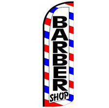 Barber Shop Windless Swooper Flag 3x115 Ft Tall Banner Sign Wq008