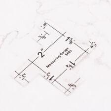 1pc 2 Kunststoff Nähen Messlehre Quilting für Patchwork Lineal  wv
