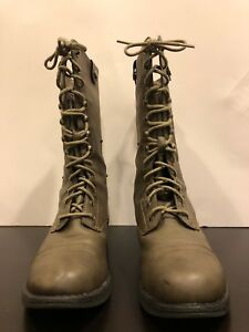 99b00b9fcf1 Steve Madden Zorrba Combat Boots Sz 7.5 Genuine Quality Leather Lace ...