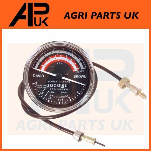 Cable David Brown 880 996 1210 Tractor REV Clock Tractormeter Tachometer Gauge
