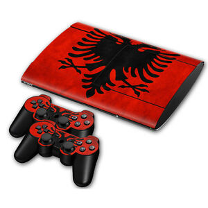Albania Faceplates, Decals & Stickers Ps3 Playstation 3 Super Slim Skin Design Aufkleber Schutzfolie Set