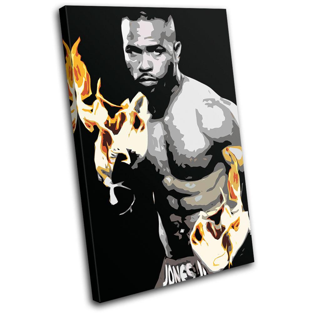 Boxing Roy Jones Jr  Sports SINGLE TOILE murale ART Photo Print