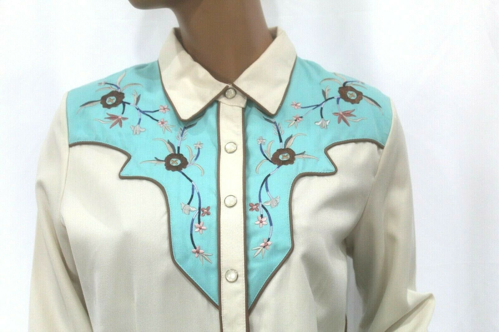 *VINTAGE* Scully~Women's Pearl Snap Western Shirt… - image 2