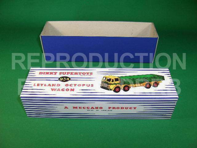 Dinky Leyland Leyland Leyland Octopus Wagon (bluee   yellow) - Reproduction Box by DRRB 29ce22