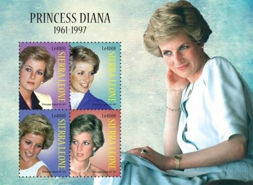 Sierra Leone - Princess Diana Stamp - Sheet of 4 MNH