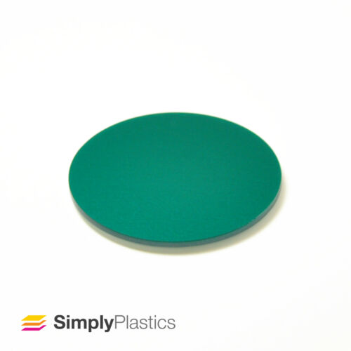3mm Perspex® Laser Cut Royal Coloured Cast Acrylic Plastic Disc Circle