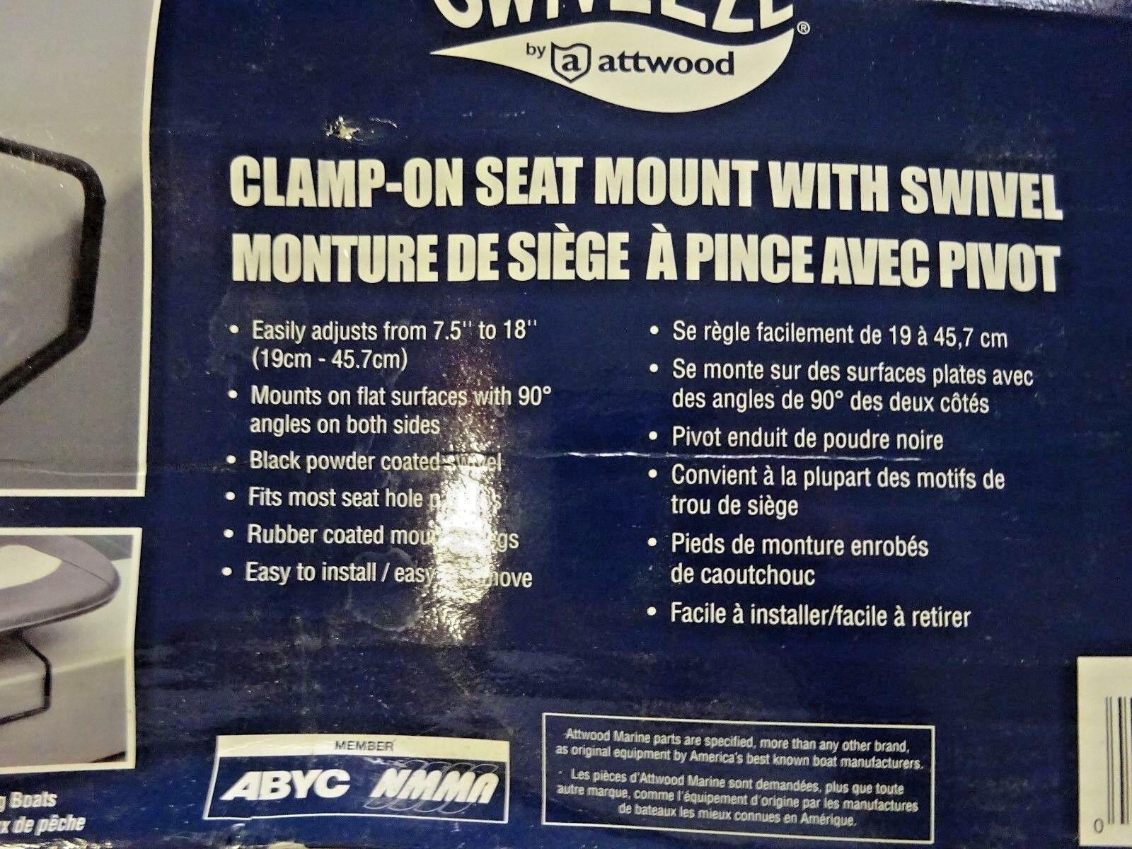 Swivl-Eze 15700-3 Clamp on Boat Seat Swivel