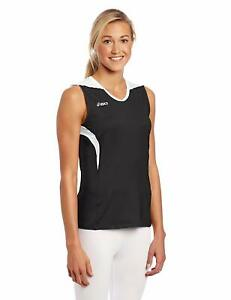 ASICS-Women-039-s-Tip-Tank-Top-Medium-Black-White
