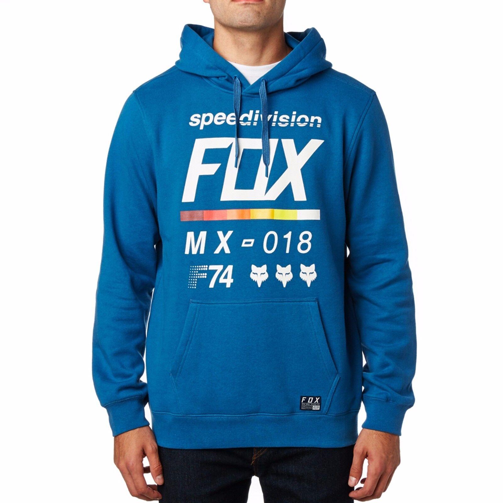 Fox Racing District 2 Pullover Fleece  Herren Hoody Hoodie Blau 19691-157 DST BLU