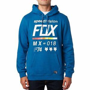 FOX Racing DISTRETTO 2 Pullover Felpa con cappuccio in pile da uomo con cappuccio blu 19691-157 DST Blu
