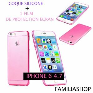 Housse-etui-pochette-coque-transparent-fushia-gel-silicone-iphone-6-4-7-film