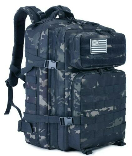 Core Crossfit Tactical Backpack Black Camo Gym Bag Athlete