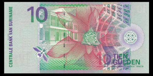 Bird Suriname 10 Gulden Banknote UNC North America Paper Money 2000 P-147
