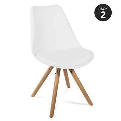 2 Sillas de diseño retro estilo silla RCD-7041