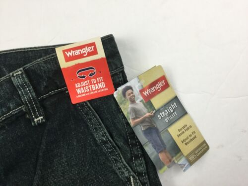 WRANGLER Boy's Straight Utility Jeans Shorts 8 R Adjust Waistband Forest Denim
