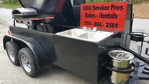 Pizza-Oven-BBQ-Smoker-Grill-Sink-Trailer-Food-Truck-Mobile-Catering-Concession