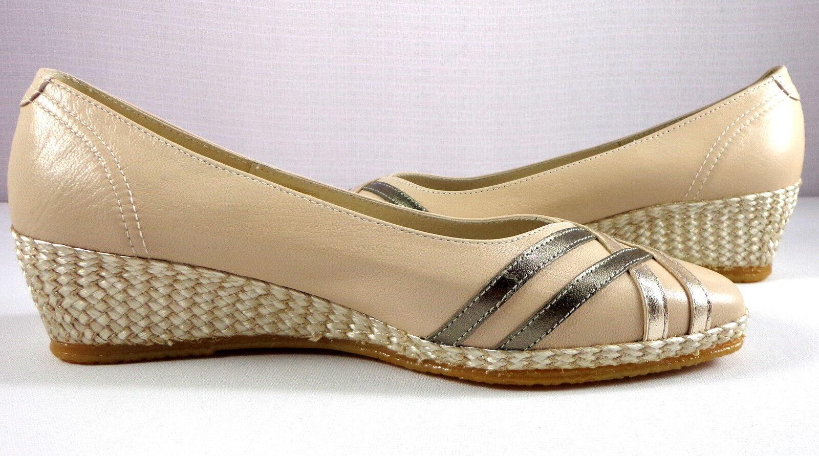 Damenschuhe Spiffy Wedge Heel Schuhes Cream Slip On Made Größe 9 EU 40 Made On in Spain with Box 46b683