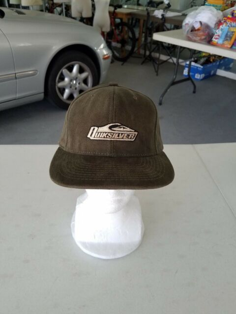 Quicksilver Snapback Hat Corduroy Olive Green Made In USA Vintage NWT d6939f2e230