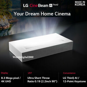 Details about LG HU85LA Ultra Short Throw 4K UHD Laser Smart Home Theater  CineBeam Projector