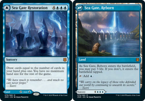 Zendikar Rising Reborn Sea Gate Restoration //// sea Gate