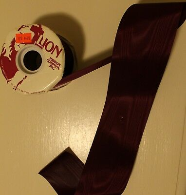 "8/"" WIDE GERMAN RAYON MOIRE/' RIBBON CHOCOLATE COPPER"