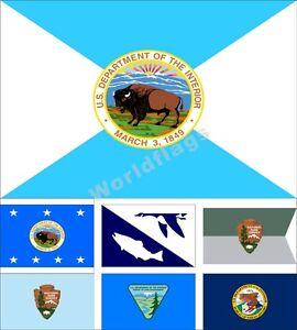 Image Is Loading US Department Of Interior Flag 3X5FT DOI Secretary