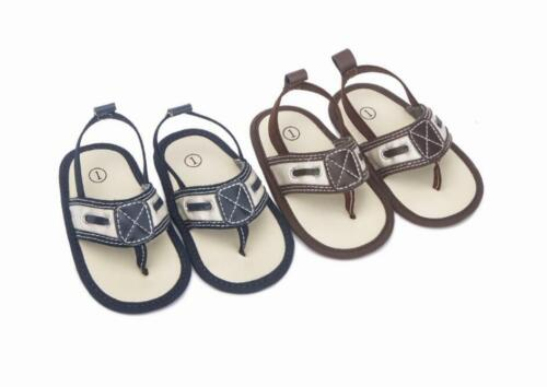 Baby Boy Crib Shoes Infant Flip Flops Summer Sandals First Step Shoes Size 1 2 3