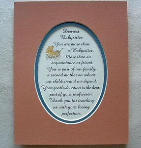 Details about BABYSITTER Children FRIEND Like Mother Family LOVE Devotion  Verses Poems Plaques