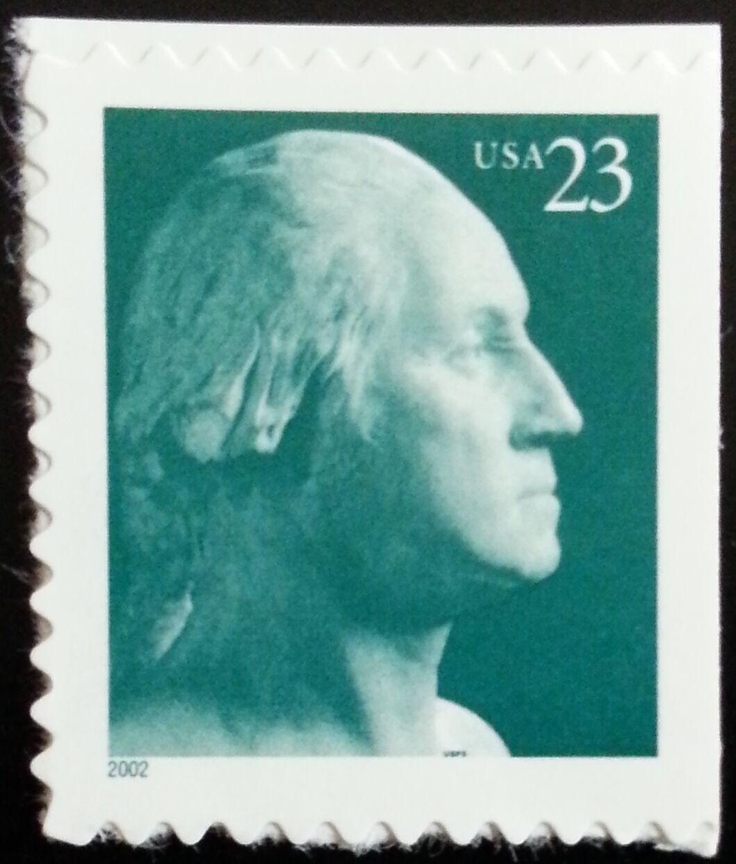 2002 23c George Washington, Booklet Single Scott 3618 M