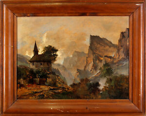 Oil-Painting-Fritz-Laubenthal-Mountain-Landscape-99860050