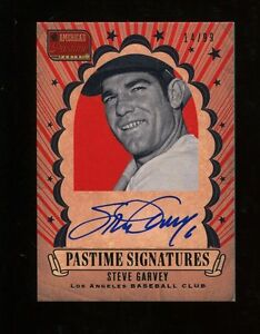 2013-Panini-America-039-s-Pastime-Steve-Garvey-Autograph-99-Dodgers