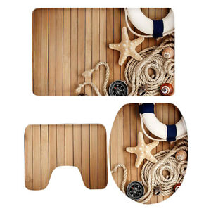 Non-Slip-Bathroom-Door-Mat-Toilet-Seat-Cover-U-shape-Rug-Bathmat-Set-P1475CP