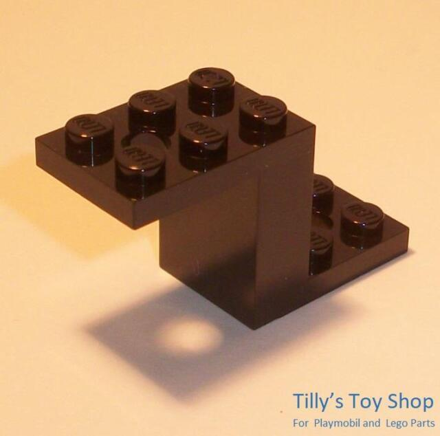 Lego 20 New Black Bracket 5 x 2 x 1 1//3 with 2 Holes Pieces