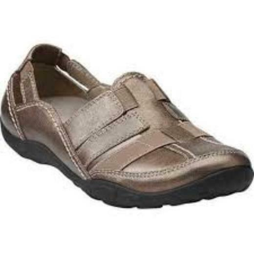 Clarks Wouomo Haley Stork Pewter Leather 26068992