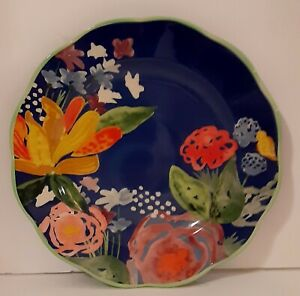 New-Pioneer-Woman-CELIA-Colbalt-Blue-Floral-Dinner-plate-11-1-8-034-Blue-Floral