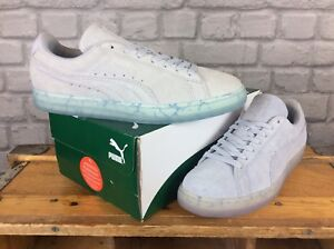 PUMA MENS UK 7 8 10 SUEDE CLASSIC EASTER HALOGEN BLUE TRAINERS RRP ... 1052dd1a5