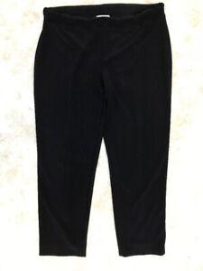 Joseph-Ribkoff-Women-039-s-Black-Solid-Elastic-Waist-Slip-On-Dress-Pants-Sz-20