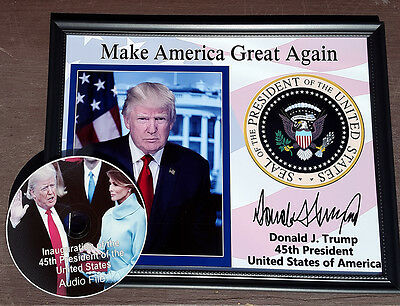 Donald Trump 8x10 Signed Photo Portrait Presidential Seal Autographed maga 2020