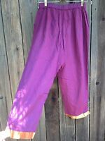 Vintage Cp Shades Hand-dyed Cotton Fuchsia Sari Pants With Tags Hard To Find