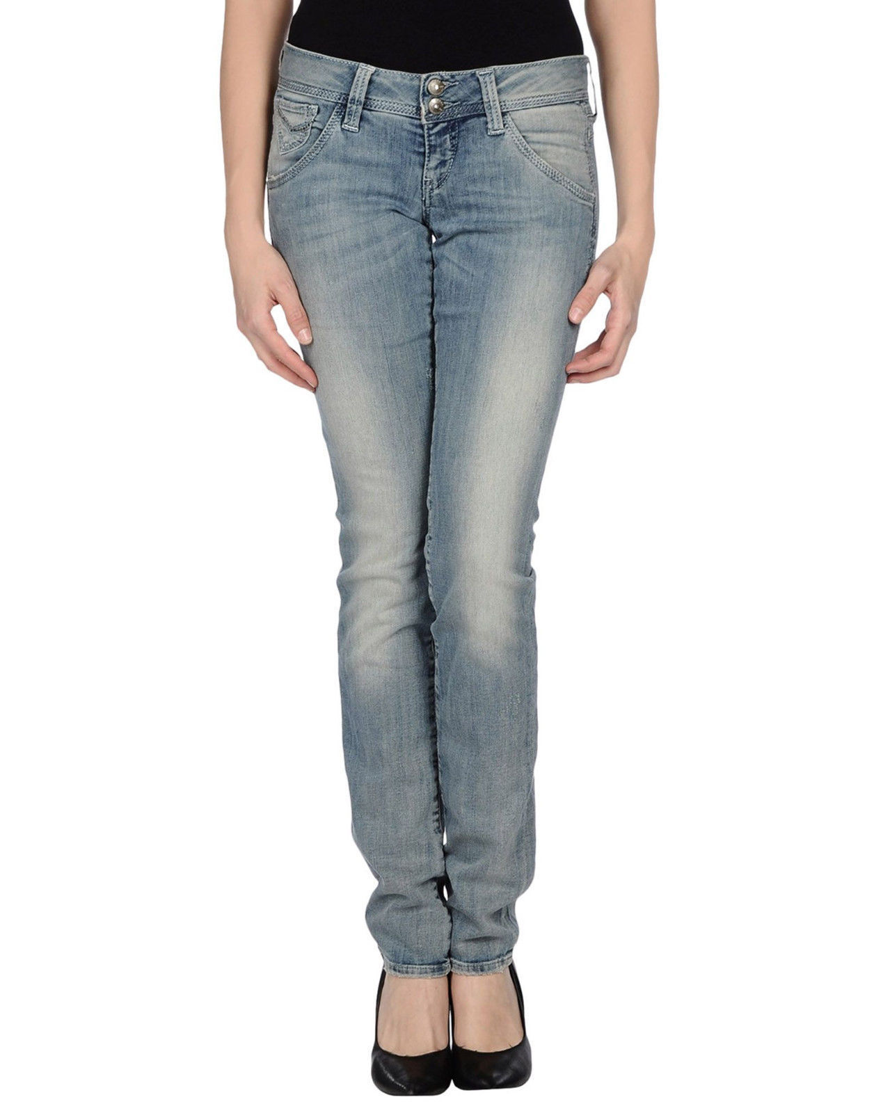 NWT GUESS Rhinestones Jeans Slim Fit Low Rise bluee Denim Pants Size 27