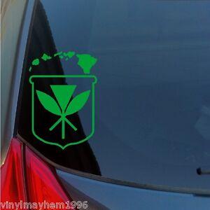 Kanaka Maoli Crest Hawaiian Islands Vinyl Sticker Decal