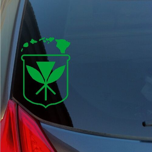 Kanaka Maoli Crest Hawaiian Islands vinyl sticker decal sovereignty Maui Kauai