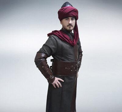 middle age soldier costume black kaftan leather East kayi Ertugrul costume kayi