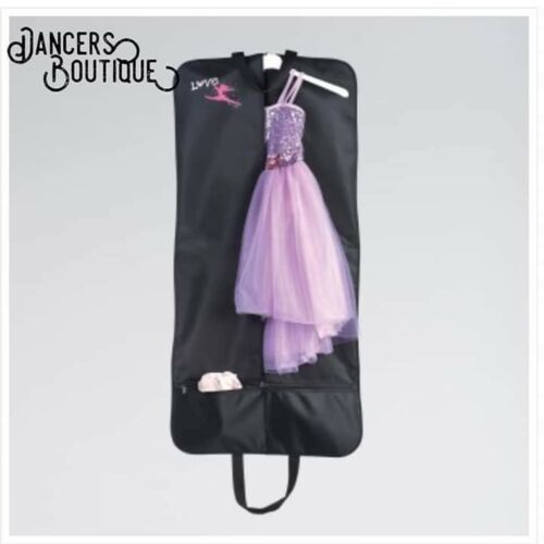 "/""Love Dance/"" Costume Carrier Garment Bag for Dancers and Performers Black"