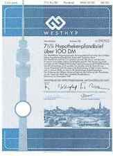 Interio hipotecario AG 100dm dortmund 1989 westhyp