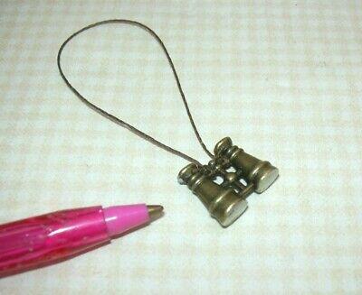 Miniature Solid Metal Binoculars on String DOLLHOUSE 1:12  UK