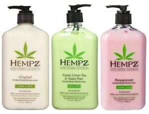 Hempz-ORIGINAL-GREEN-TEA-Asian-Pear-POMEGRANATE-Herbal-Lotion-17-oz-LOT-3